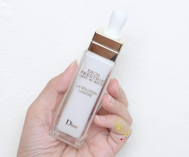 a photo of Dior Prestige Light In White Exceptional Brightening and regenerating dermo-serum review