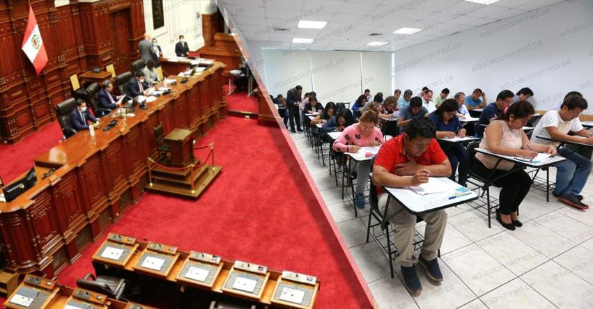 Congreso propone declarar en emergencia la Carrera Pública Magisterial
