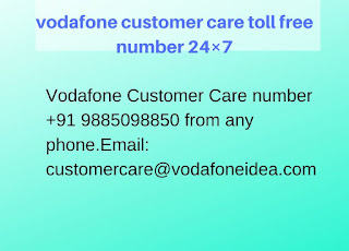 vodafone customer care toll free number