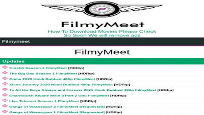 Filmymeet Latest South HD Movies Download