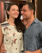 Dipannita Sharma with her husband