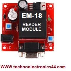 EM-18 RFID Reader | Code | Circuit | Pin configuration
