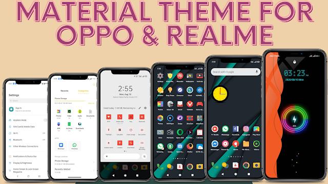 Chủ đề Material cho Oppo & Realme || color os 5,6,7, realme ui và Tất cả các thiết bị oppo và realme ||
