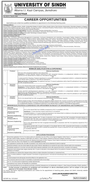 university-of-sindh-jobs-2021-download-application-form