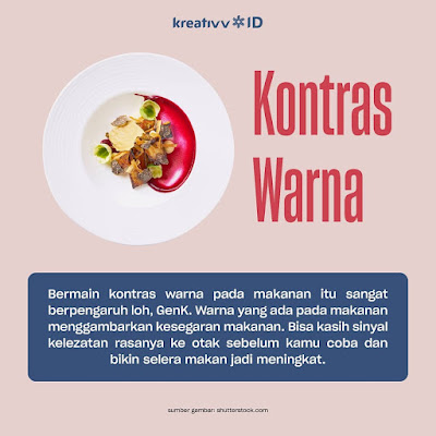 Tips Food Plating Kontras Warna