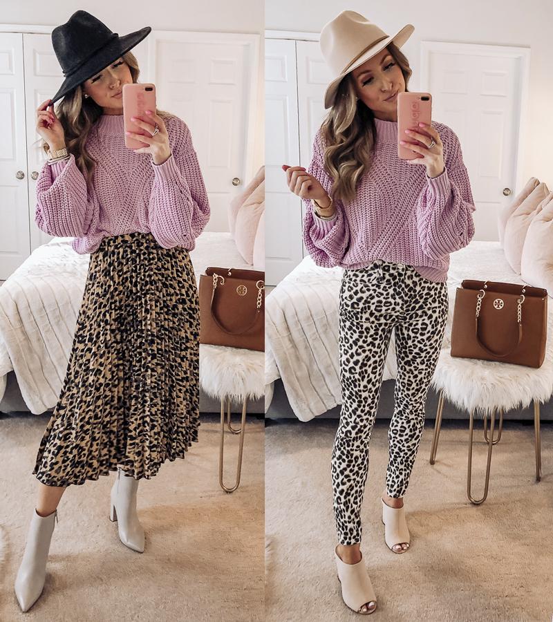 nordstrom bp purple traveling stitch sweater