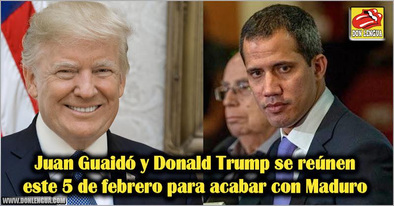 Juan Guaidó y Donald Trump se reúnen este 5 de febrero para acabar con Maduro