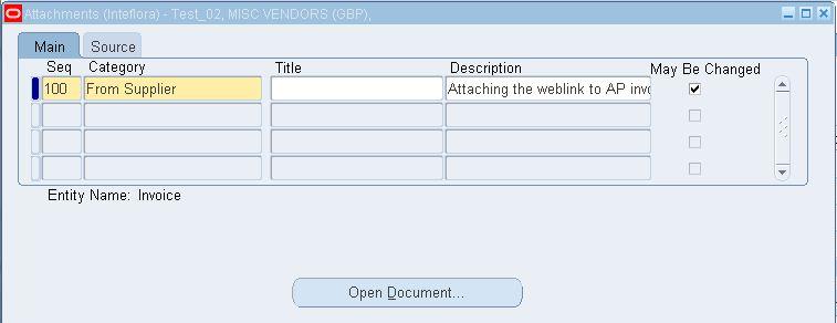 R12: Attach URL to AP Invoice through API/Script | Oracle