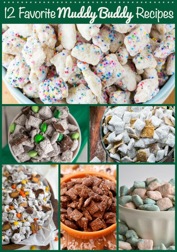 """You know about muddy buddies, right? They are cereal tossed with chocolate, peanut butter, cheesecake sauce, or lots of other tasty concoctions and then tossed with a generous helping of powdered sugar. Muddy buddies are also called puppy chow, or I just call them """"the best snack ever."""""""