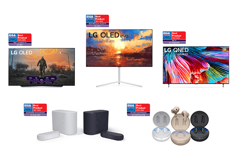 LG wins 5 EISA awards, its OLED TV won for the 10th consecutive year