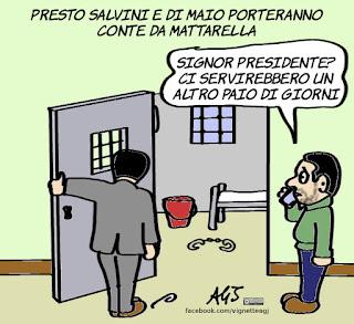 salvini, di maio, conte, presidente del consiglio, politica, vignetta, satira