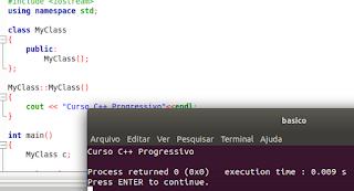 Função construtora em C++