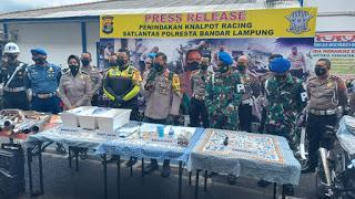Satlantas Polresta Bandarlampung Berhasil Amankan 170 Unit Kendaraan Dalam Razia