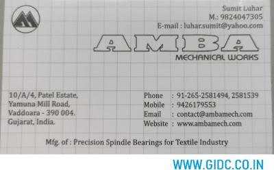 AMBA MECHANICAL WORKS - 9824047305