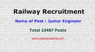 Railway Recruitment 2019 : For JE