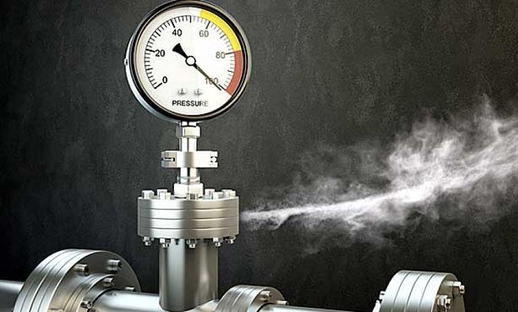 Fuga de gas de una toma manométrica