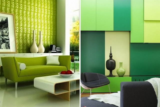 Green Color In Details Of Interior Designs