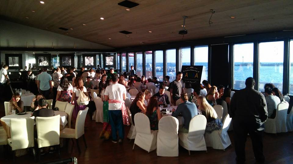 Partygoers Enjoy Brazilian Food And Lovely View Of The Beach