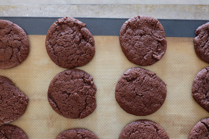 baked chocolate wafer cookies