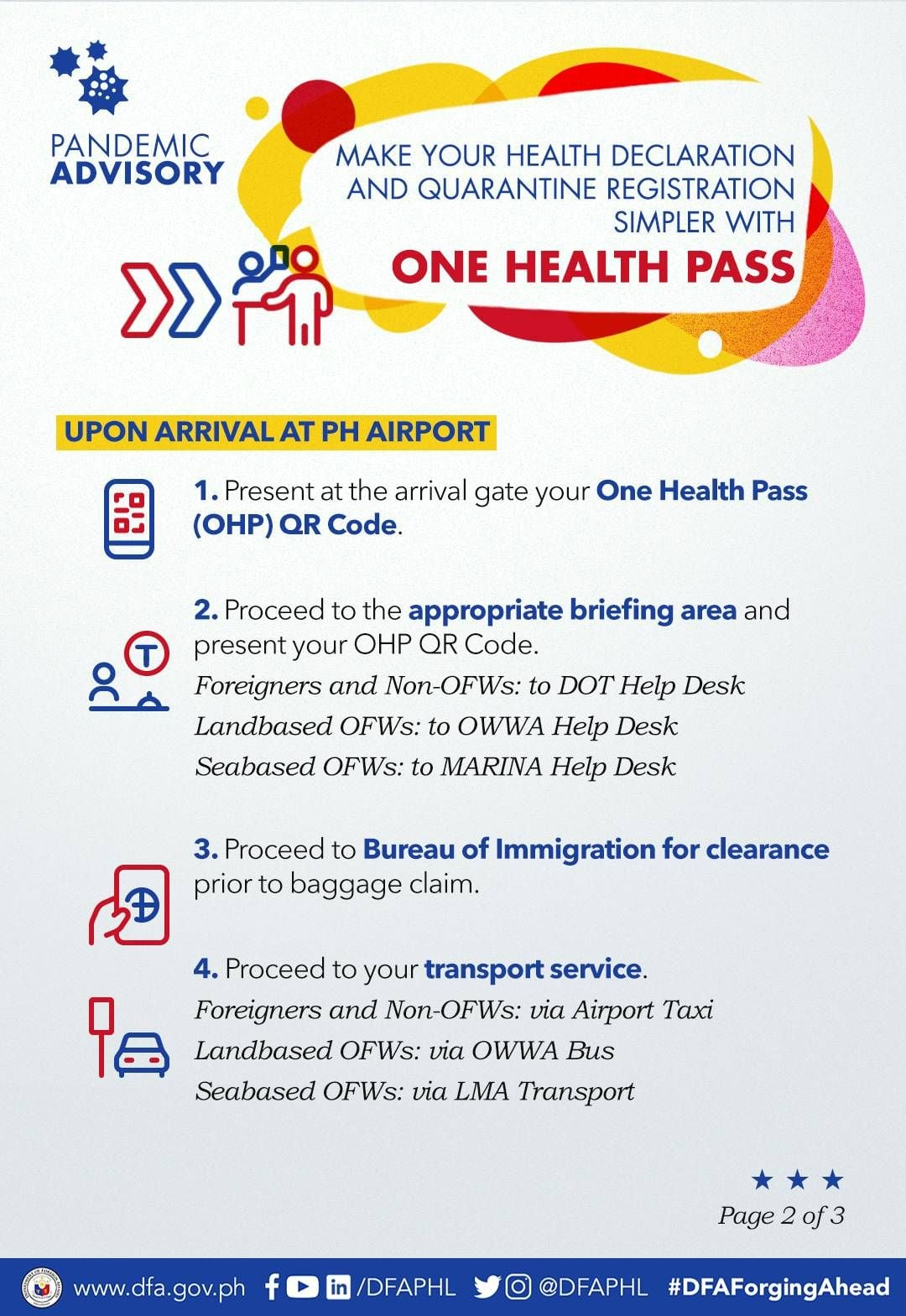 One Health Pass Upon Arrival at Airport