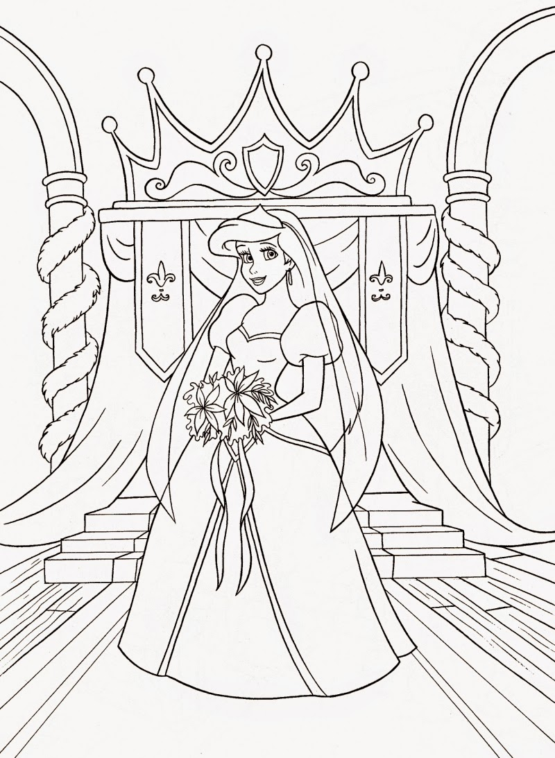 Coloring Pages: Ariel the Little Mermaid Free Printable ... | free printable princess ariel coloring pages