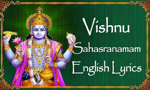 vishnu sahasranamam lyrics in english