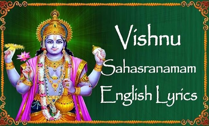 Vishnu Sahasranamam Lyrics in English with Meaning