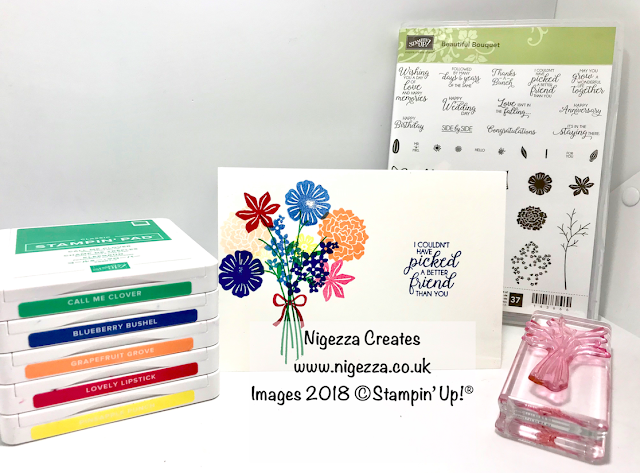 #simplestamping Beautiful Bouquet for #stampinforall Nigezza Creates