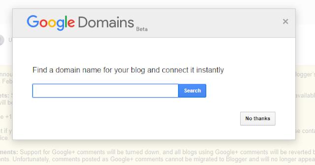 Blogger Google Domains