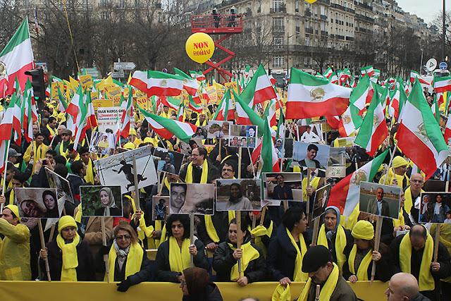 ایران-پاریس ٫گزارش کامل ازتظاهرات نه به روحانی پاریس8بهمن,1394
