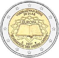 hollanti 2 euro kolikko 2007 rooman sopimus