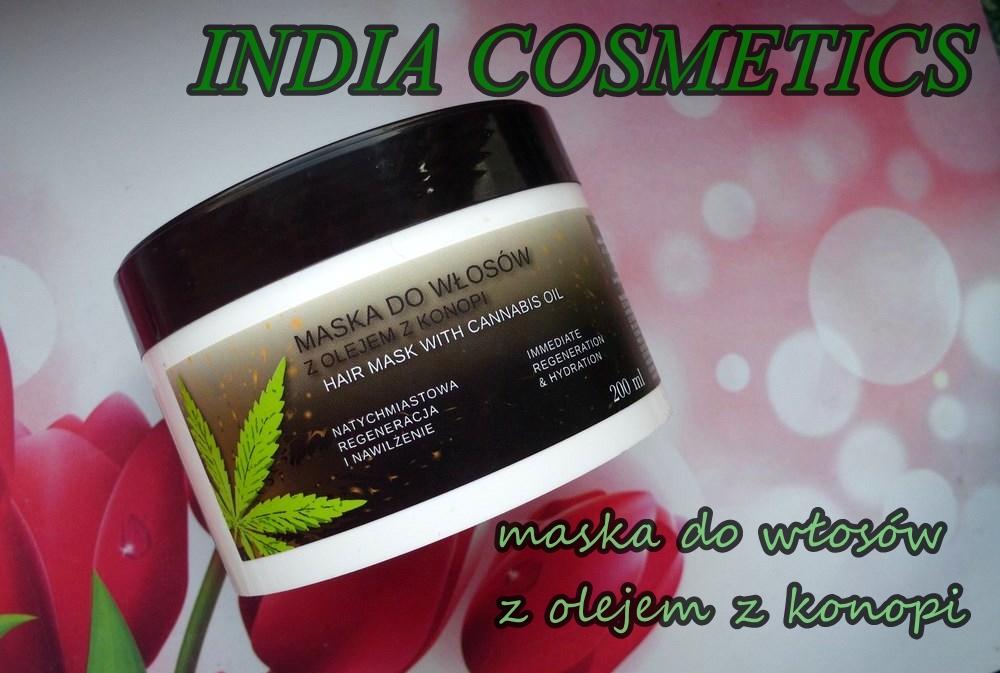 INDIA Cosmetics maska do włosów z olejem z konopi