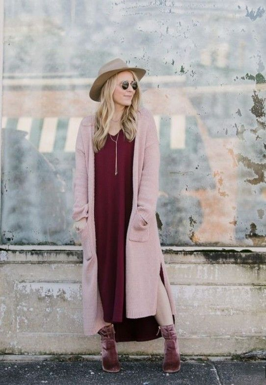 BURGUNDY & PINK OUTFIT