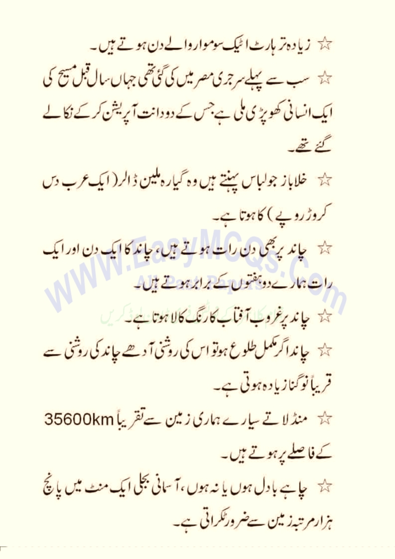 Solved URDU General Knowledge Question Answers For Interview Test
