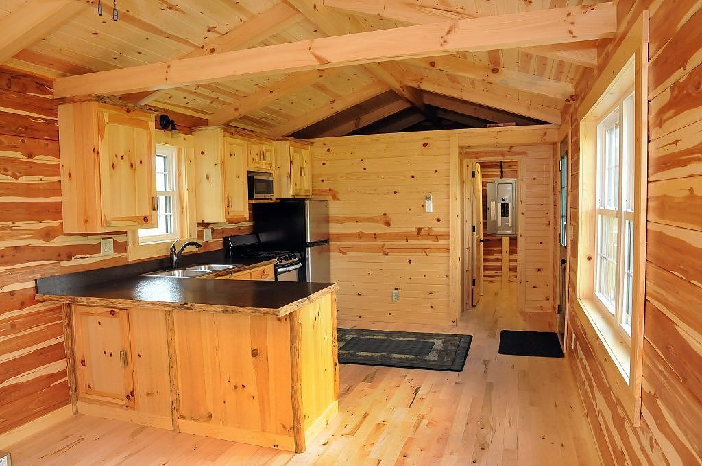 Cambridge Log Cabin 360 Sq Ft TINY HOUSE TOWN
