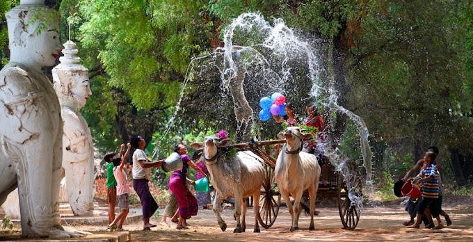 Traditional Culture of Myanmar Water Festival (Thingyan)