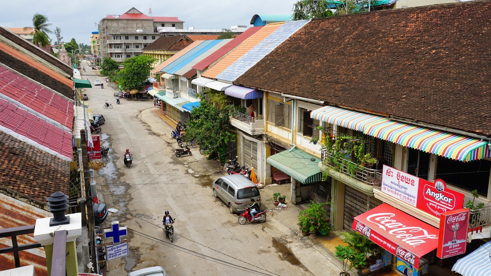 View of Battambang from Senghout Hotel