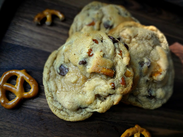 Pretzel Chocolate Chip Peanut Butter Cookies