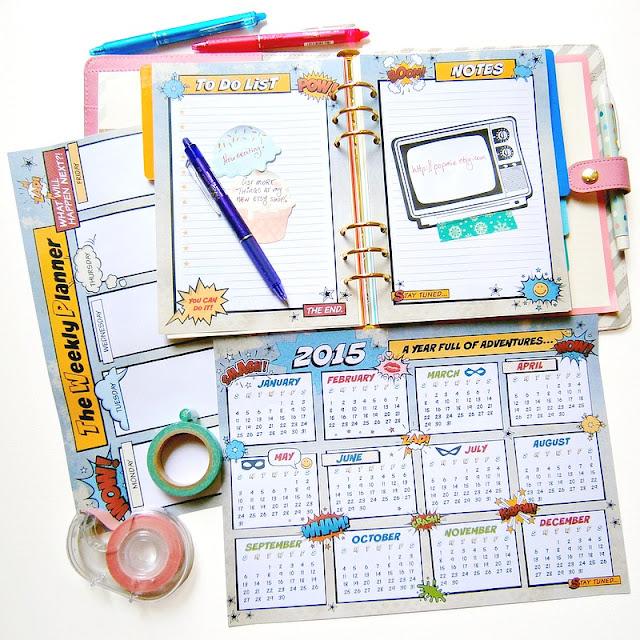 2015 Pop Art Printable Calendar