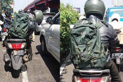 Salut, Bapak TNI Ini Ditabrak Sampai Jatuh, Tapi Lihat Yang Dilakukannya Pada Si Penabrak