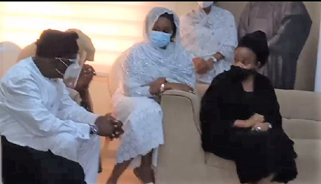 Drama As Ajimobi's Wife, Oyo Deputy Gov Engage In Open Exchange Of Words After Huband's Burial (Video)
