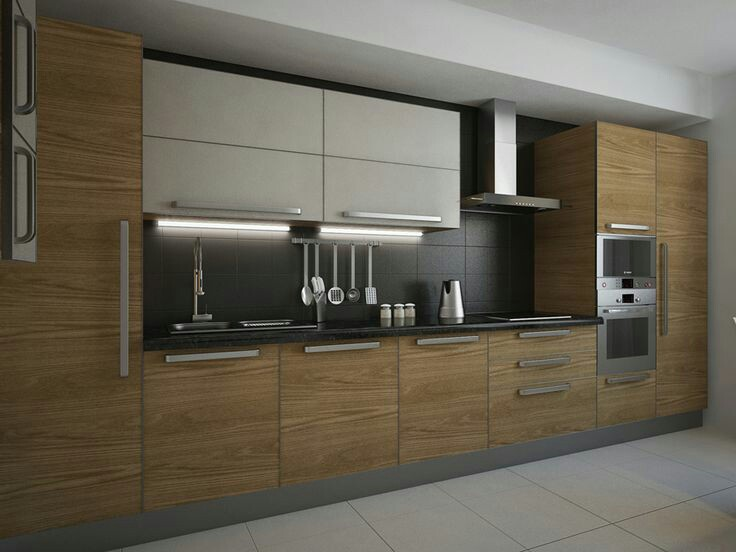 Contoh Gambar Desain Kitchen Set Lurus Furniture Kitchen Set
