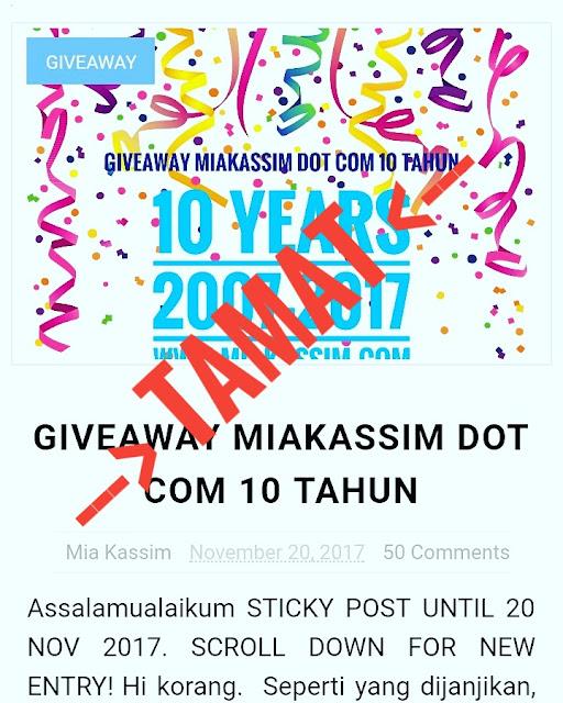 Cara Pemilihan Pemenang Giveaway Miakassim Dot Com 10 Tahun