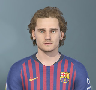 PES 2019 Faces Antoine Griezmann by Jarray & The White Demon