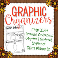 Click here for your FREE fall themed graphic organizers!