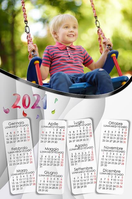 Calendario a foglio singolo inedito