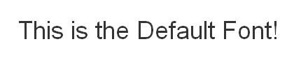 bootstrap default font