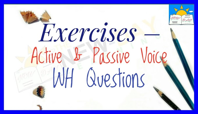 Active and passive voice Wh questions exercises
