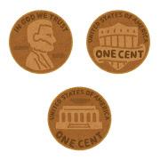 1セント硬貨のイラスト(お金)