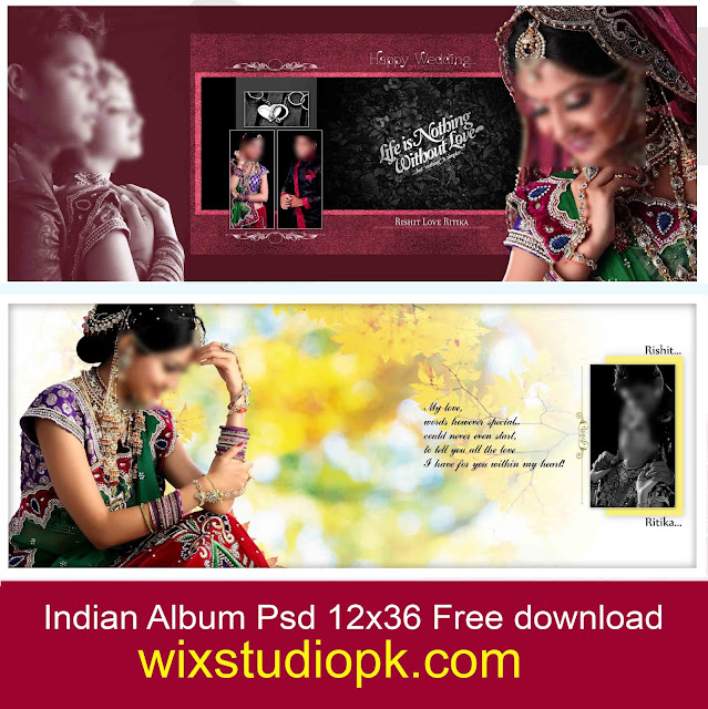indian album psd 12x36 Free download